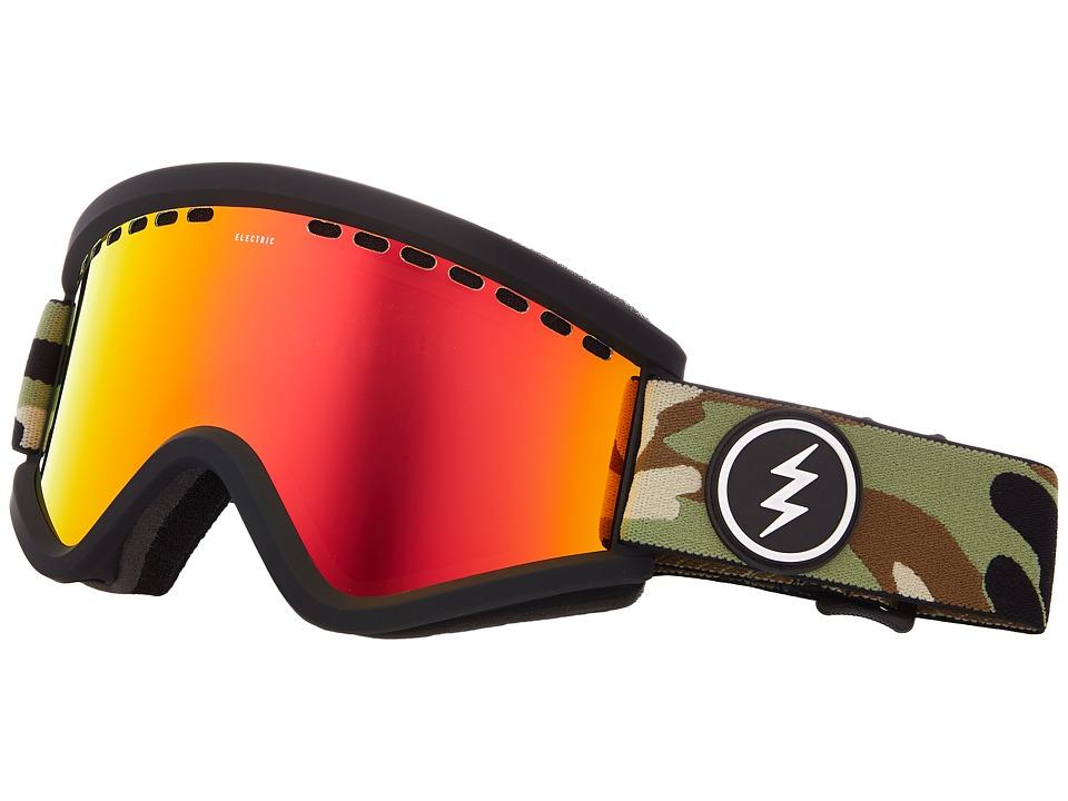 Electric Eyewear EGV (Camo/Brose Red Chrome Lens) Goggles