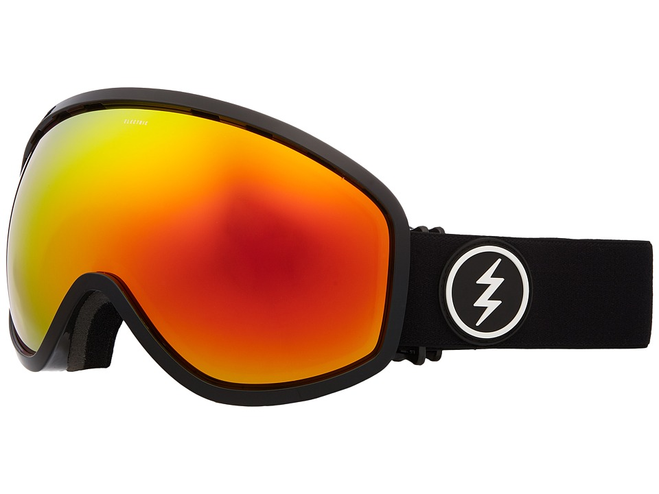 Electric Eyewear Masher (Gloss Black Frame/Brose Red Chrome Lens) Goggles