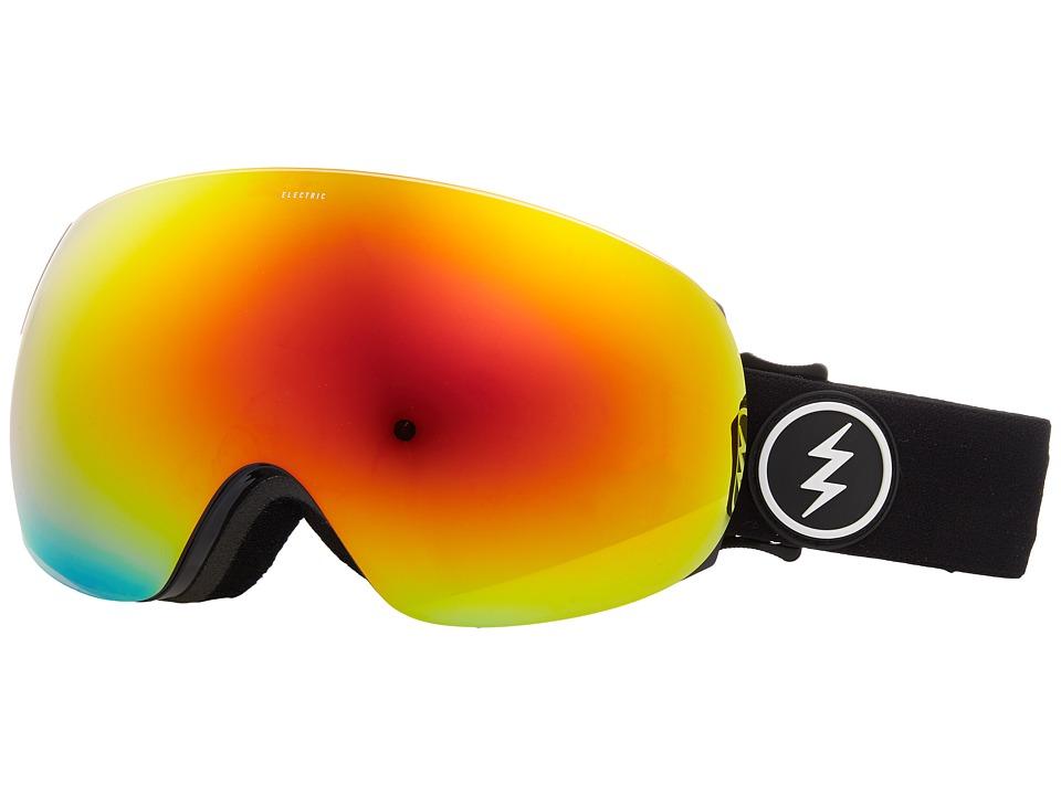 Electric Eyewear EG3 (Gloss Black Frame/Brose Red Chrome Lens) Goggles