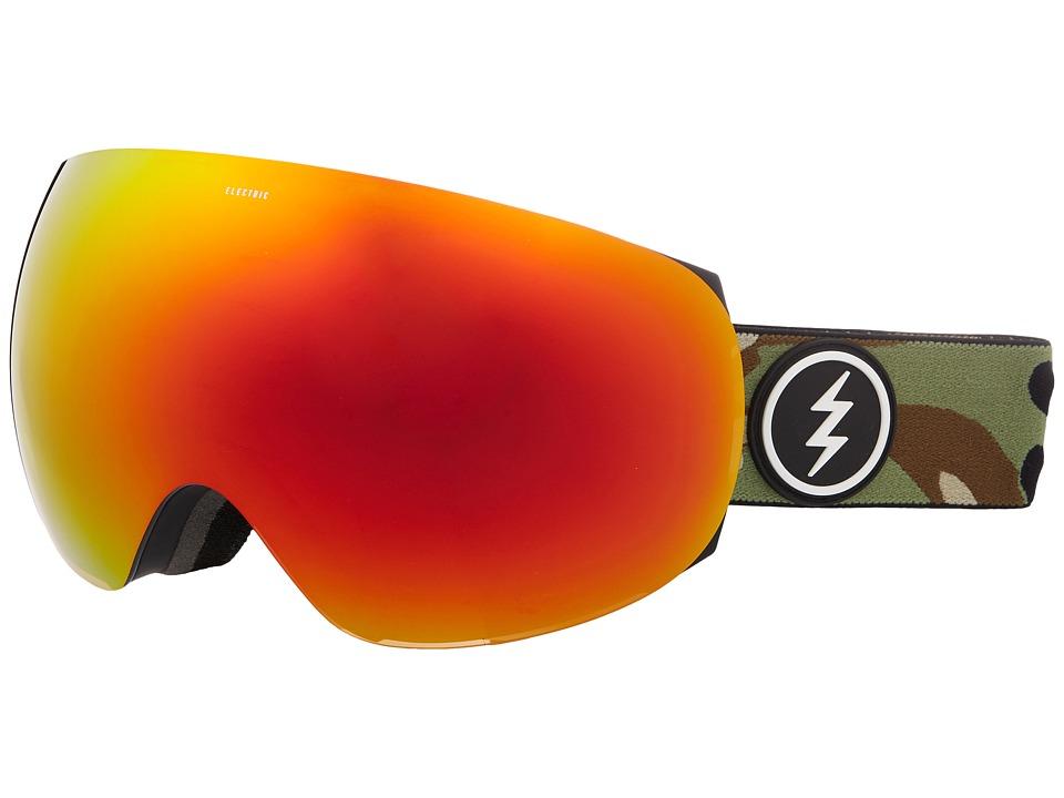 Electric Eyewear EG3 (Camo/Brose Red Chrome Lens) Goggles
