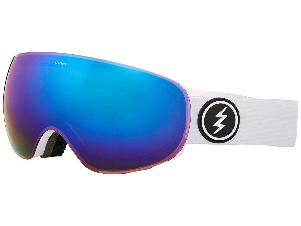 Electric Eyewear EG3.5 (Gloss White Frame/Brose Blue Chrome Lens) Goggles