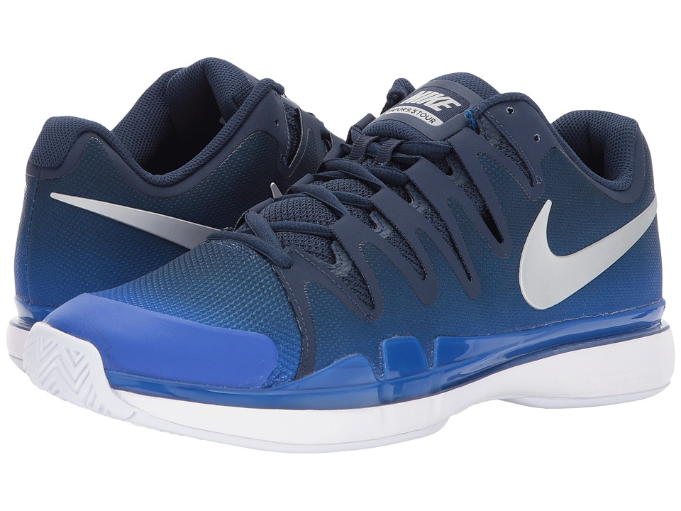 Nike Zoom Vapor 9.5 Tour (Midnight Navy/Metallic Silver/R...