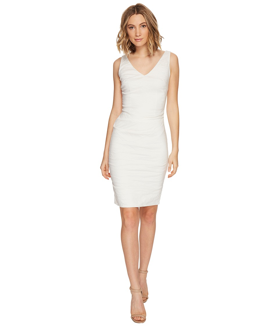 Nicole Miller Krista Cotton Metal Dress (White) Women