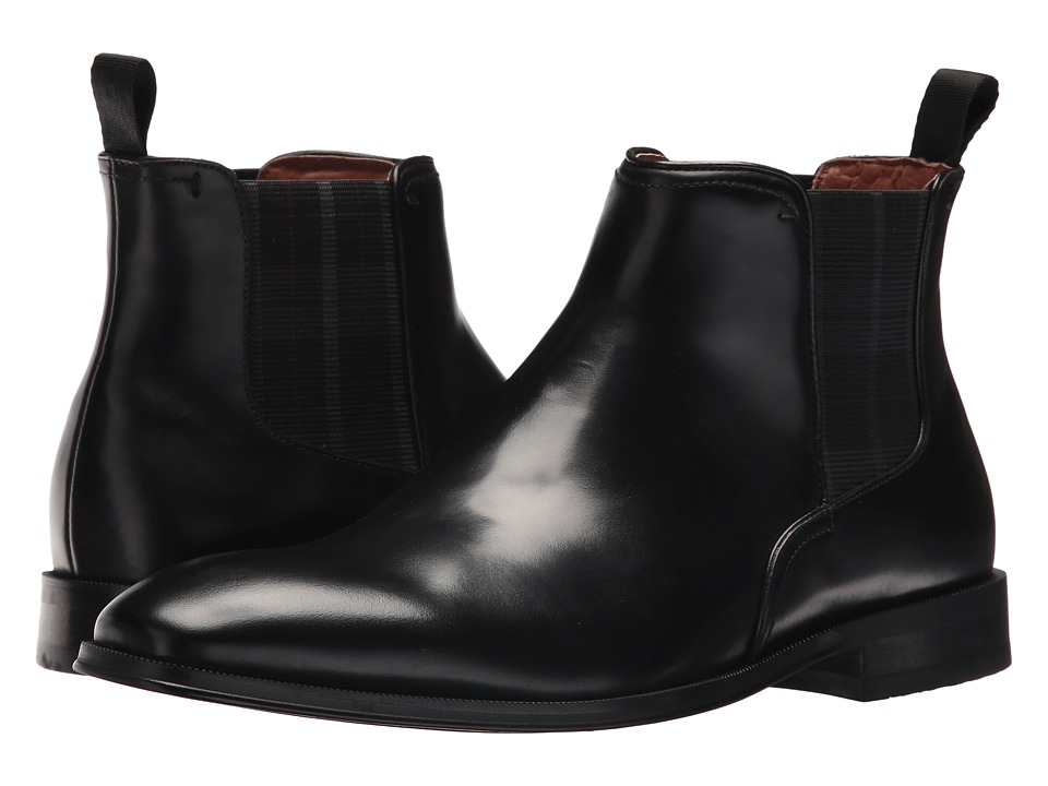 Florsheim Belfast Plain Toe Gore Boot (Black Smooth) Men