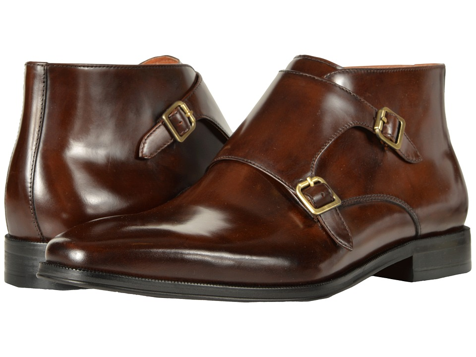 Florsheim Belfast Double Monk Strap Boot (Brown Smooth) Men