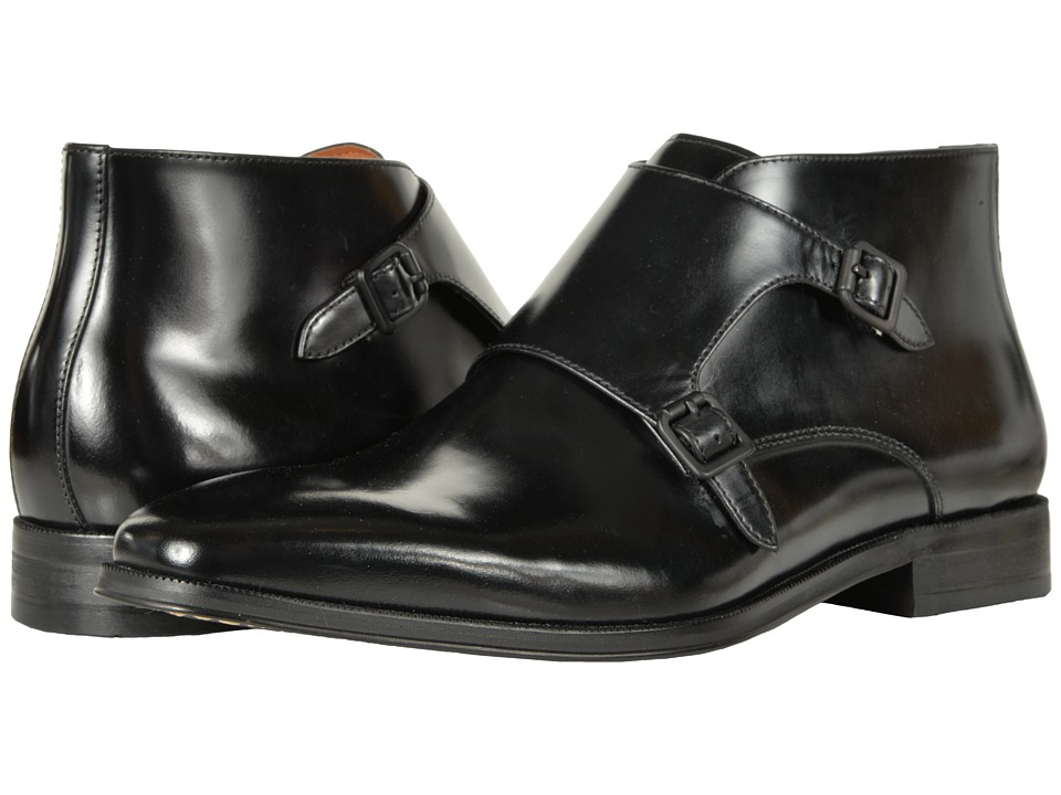 Florsheim Belfast Double Monk Strap Boot (Black Smooth) Men