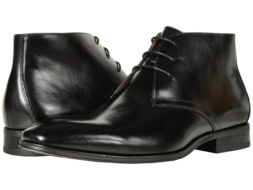 Florsheim Corbetta Plain Toe Boot (Black Smooth) Men