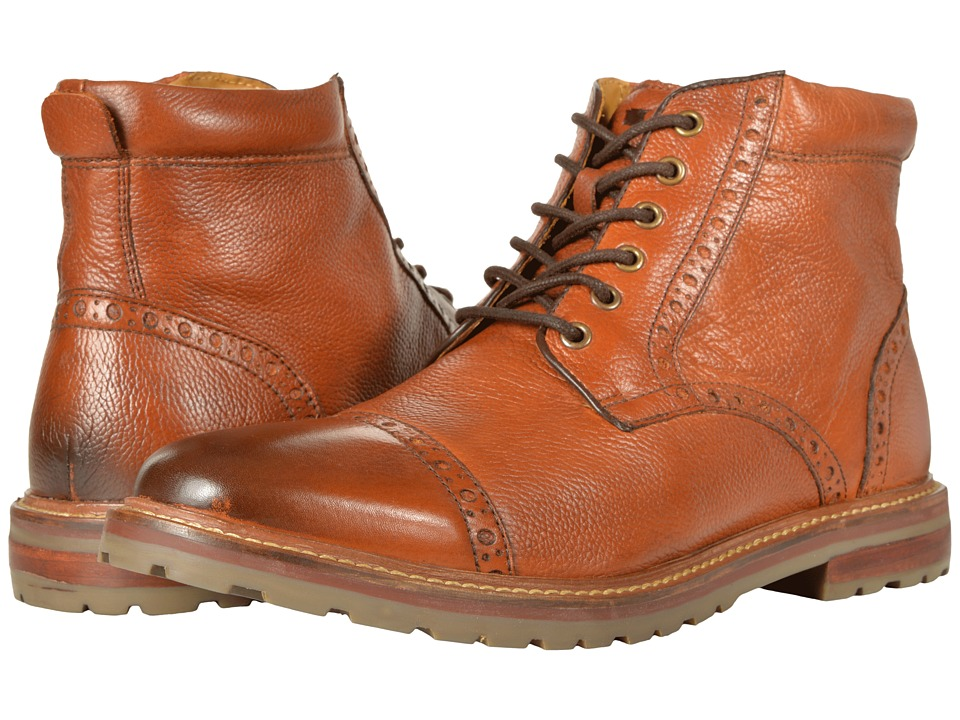 Florsheim Estabrook Cap Toe Boot (Cognac Milled) Men