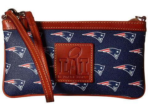 Dooney & Bourke Super Bowl Patriots Wristlet - Navy