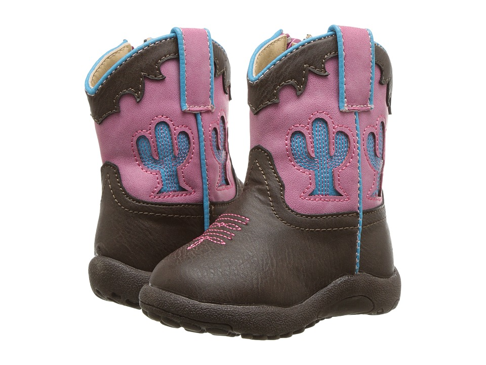 Roper Kids - Cactus (Infant/Toddler) (Brown Faux Leather ...
