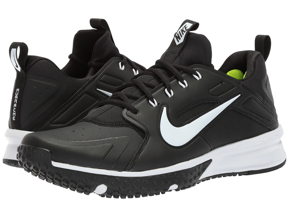 Nike Alpha Huarache Turf (Black/White) Men's Shoes