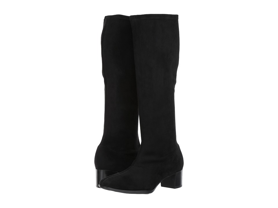 Munro Newbury (Black Stretch Fabric) Women's Pull-on Boots