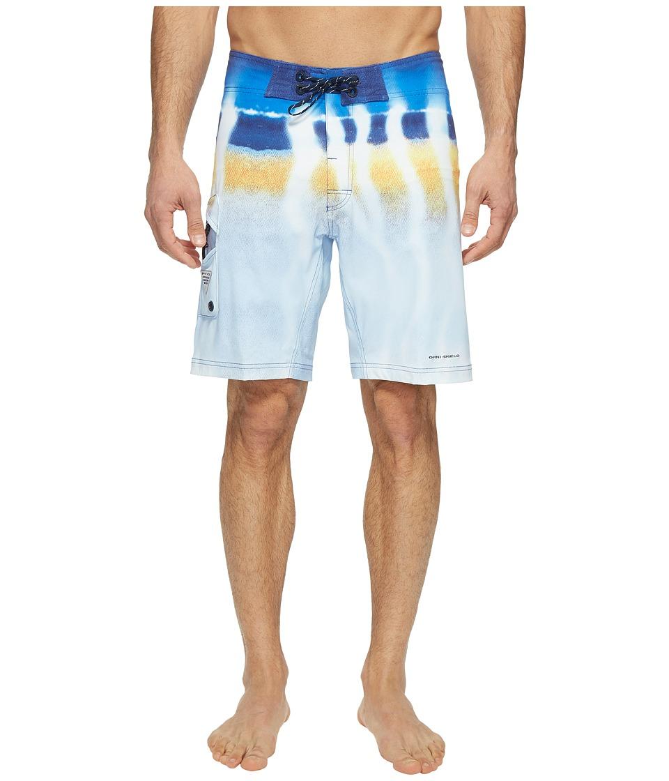 Columbia PFG Offshore II 9 inch Board Shorts (Vivid Blue Wahoo Fade) Men
