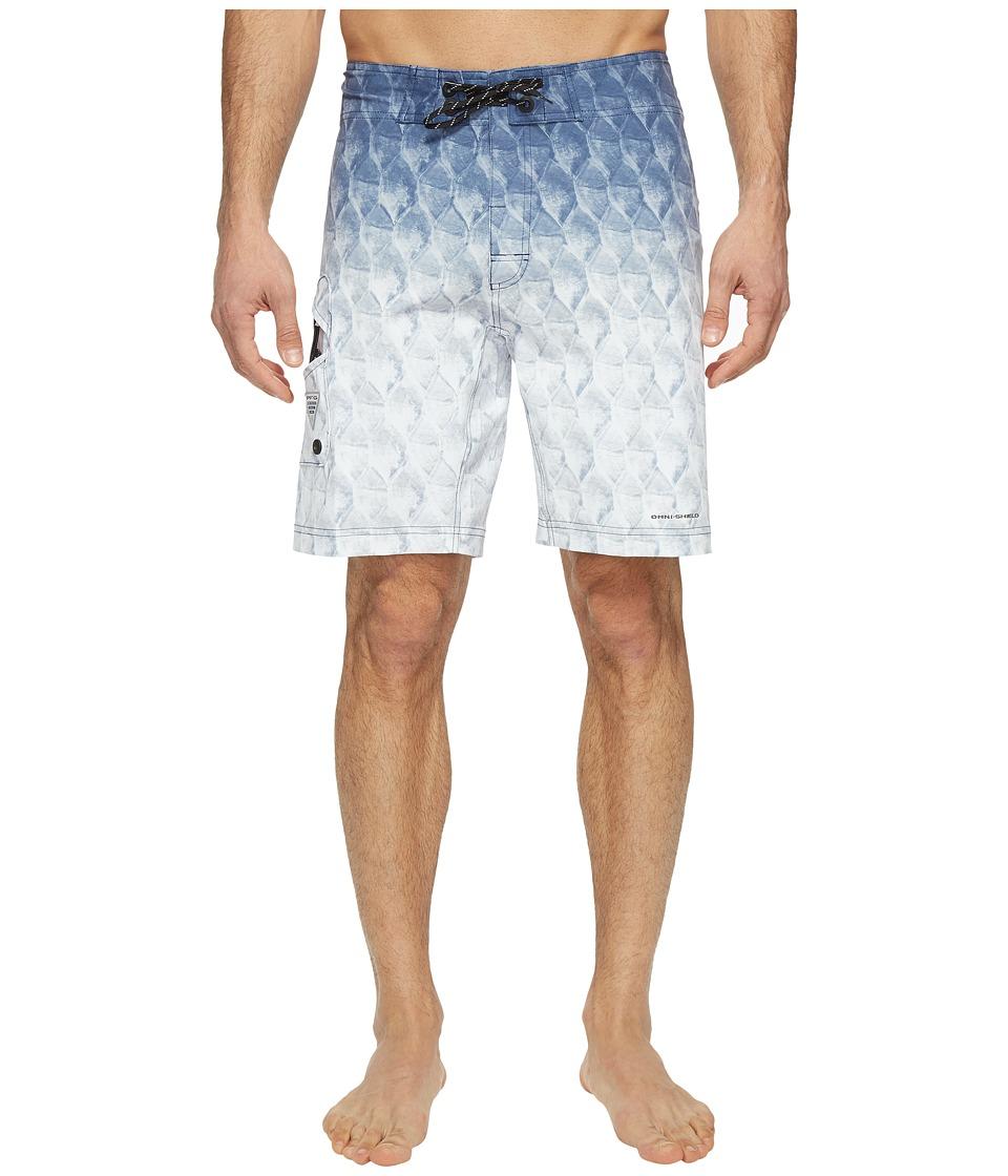 Columbia PFG Offshore II 9 inch Board Shorts (Black Tarpon Fade) Men