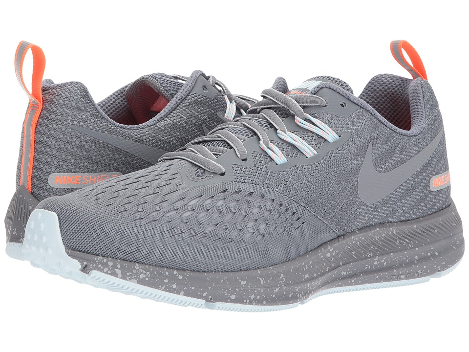 new arrival 0d7ad 4e677 Nike Air Zoom Winflo 4 Shield (Cool Grey-Metallic Cool Grey-Wolf Grey) Womens  Shoes