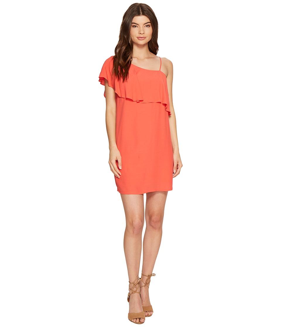 1.STATE - One Shoulder Ruffle Shift Dress