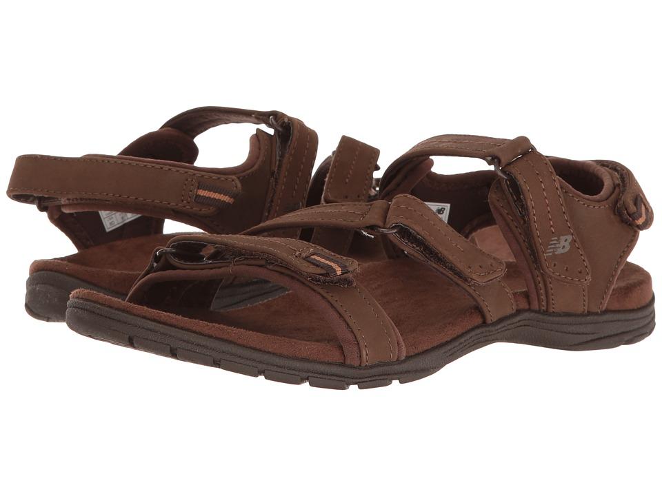 New Balance Maya Leather Sandal (Brown) Women
