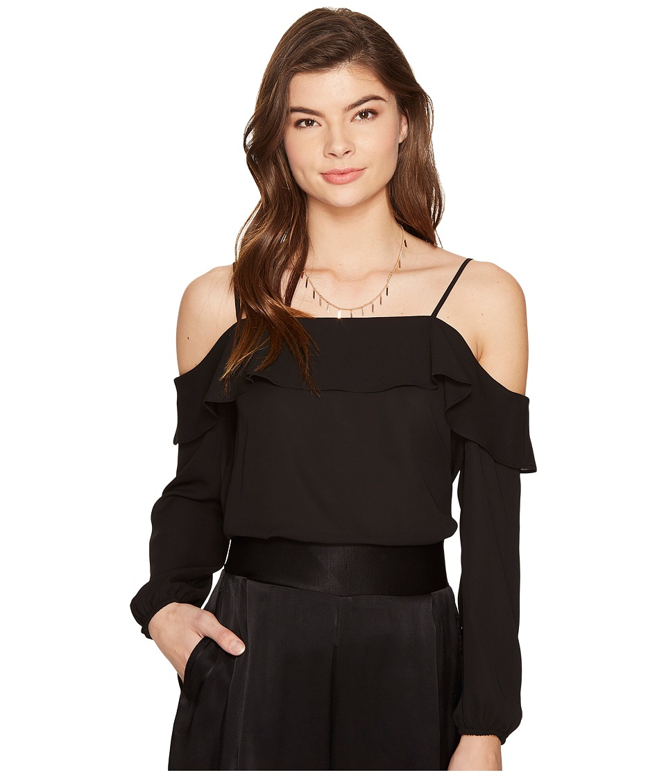 1.STATE 1.STATE - Cold Shoulder Blouse w/ Ruffle Top