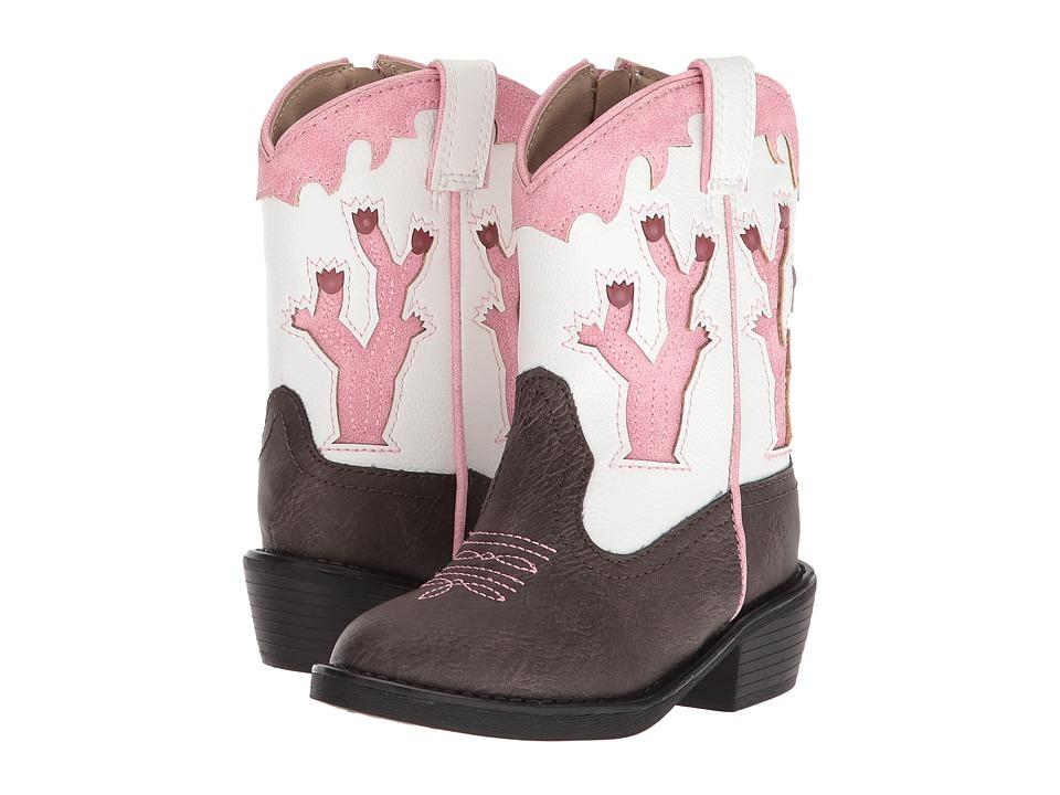 Roper Kids Desert Lights (Toddler) (Faux Leather Vamp/Cactus Lights) Cowboy Boots
