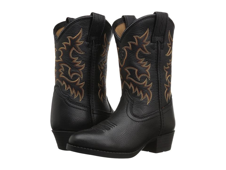 Ariat Kids Heritage Western (Toddler/Little Kid/Big Kid) (Black Deertan) Cowboy Boots