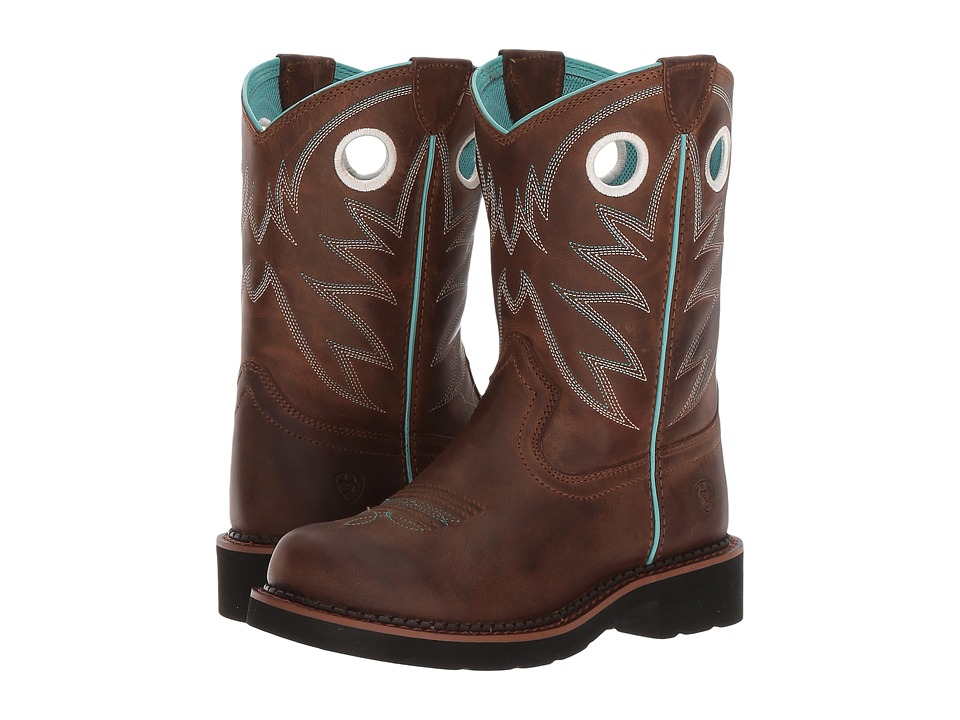 Image of Ariat Kids - Probaby (Toddler/Little Kid/Big Kid) (Distressed Brown) Cowboy Boots