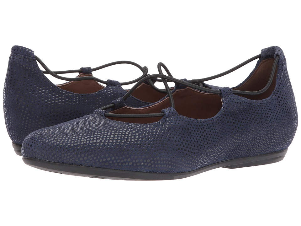 Earth Essen Earthies (Navy Printed Suede) Women