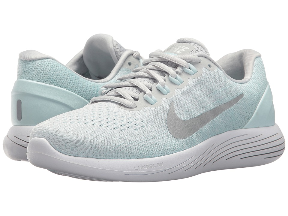 Nike LunarGlide 9 (Pure Platinum/Champagne/Glacier Blue) Women's Running Shoes