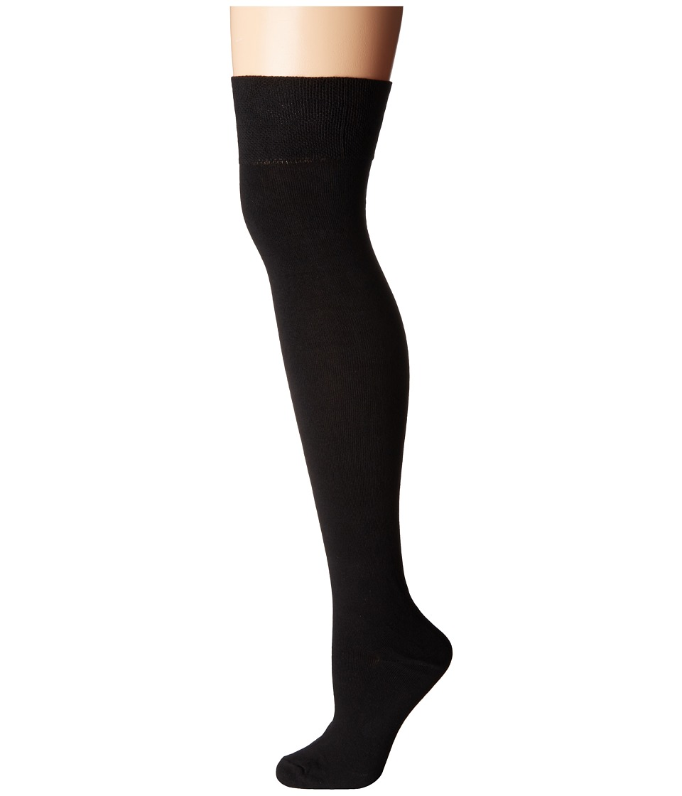 Socksmith - Solid Over the Knee (Black) Womens Knee High Socks Shoes