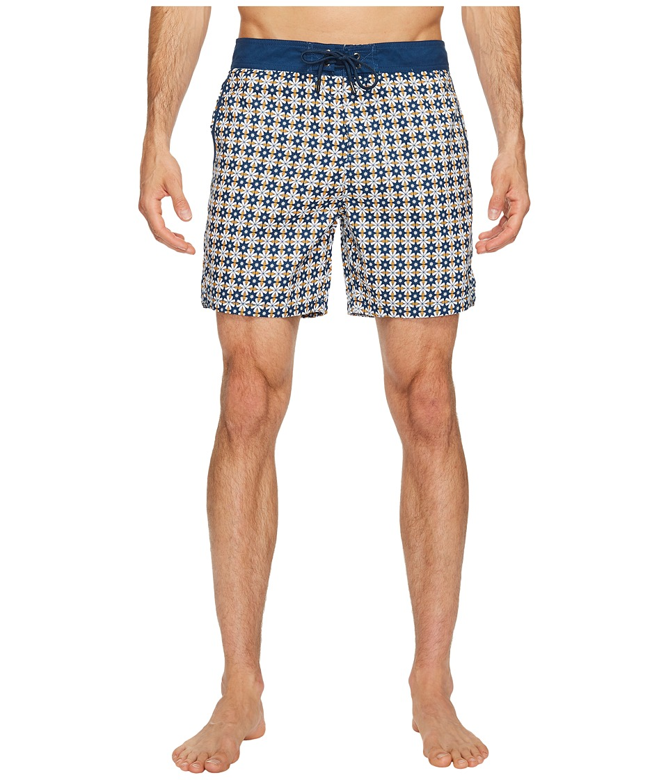 Mr. Swim Star Tile Printed Chuck Boardshorts (Orange) Men