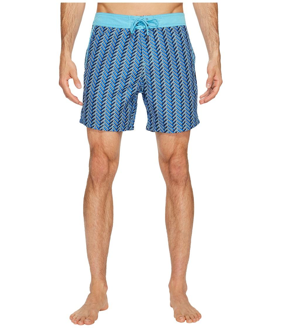 Mr. Swim Zigzag Printed Chuck Boardshorts (Navy) Men