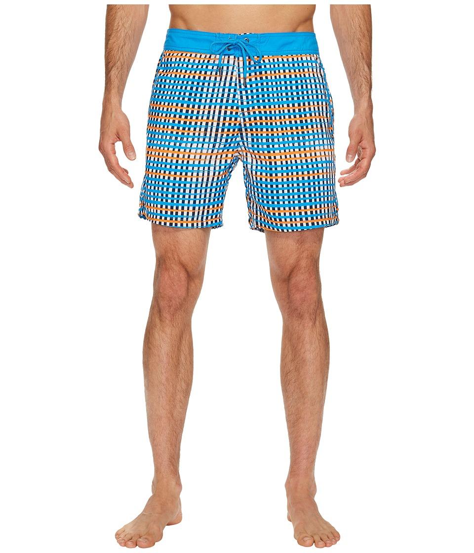 Mr. Swim Flat Plaid Printed Chuck Boardshorts (Orange) Men