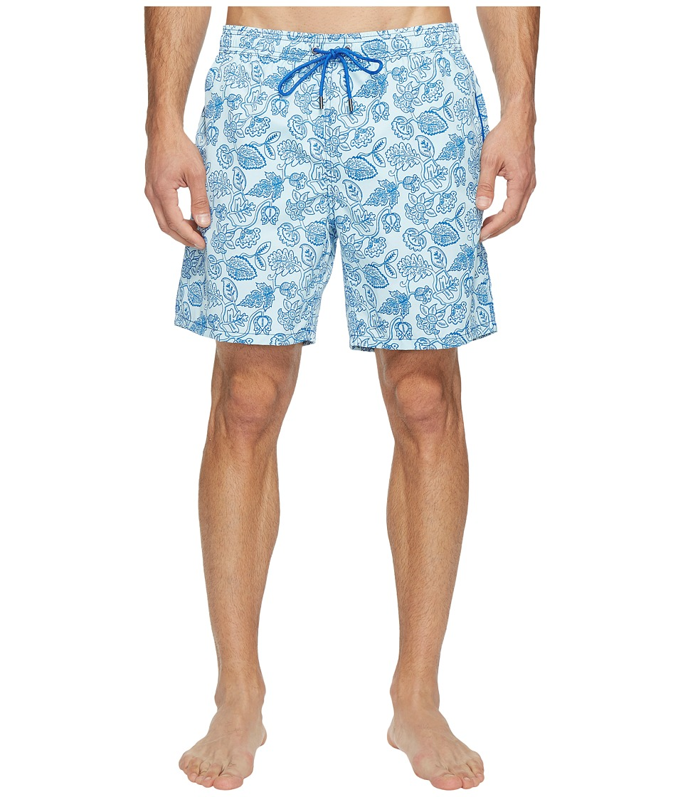 Mr. Swim Mr. Swim - Leafy Floral Printed Dale Swim Trunk