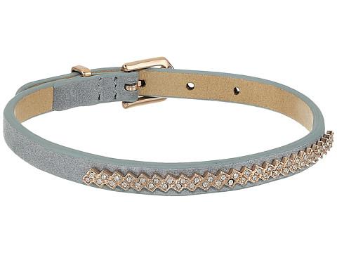 Fossil Glitz Leather Bracelet - Rose Gold Tone