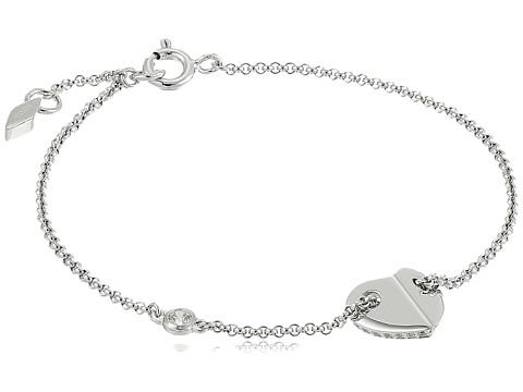 Fossil Sterling Folded Heart Bracelet - Silver Tone