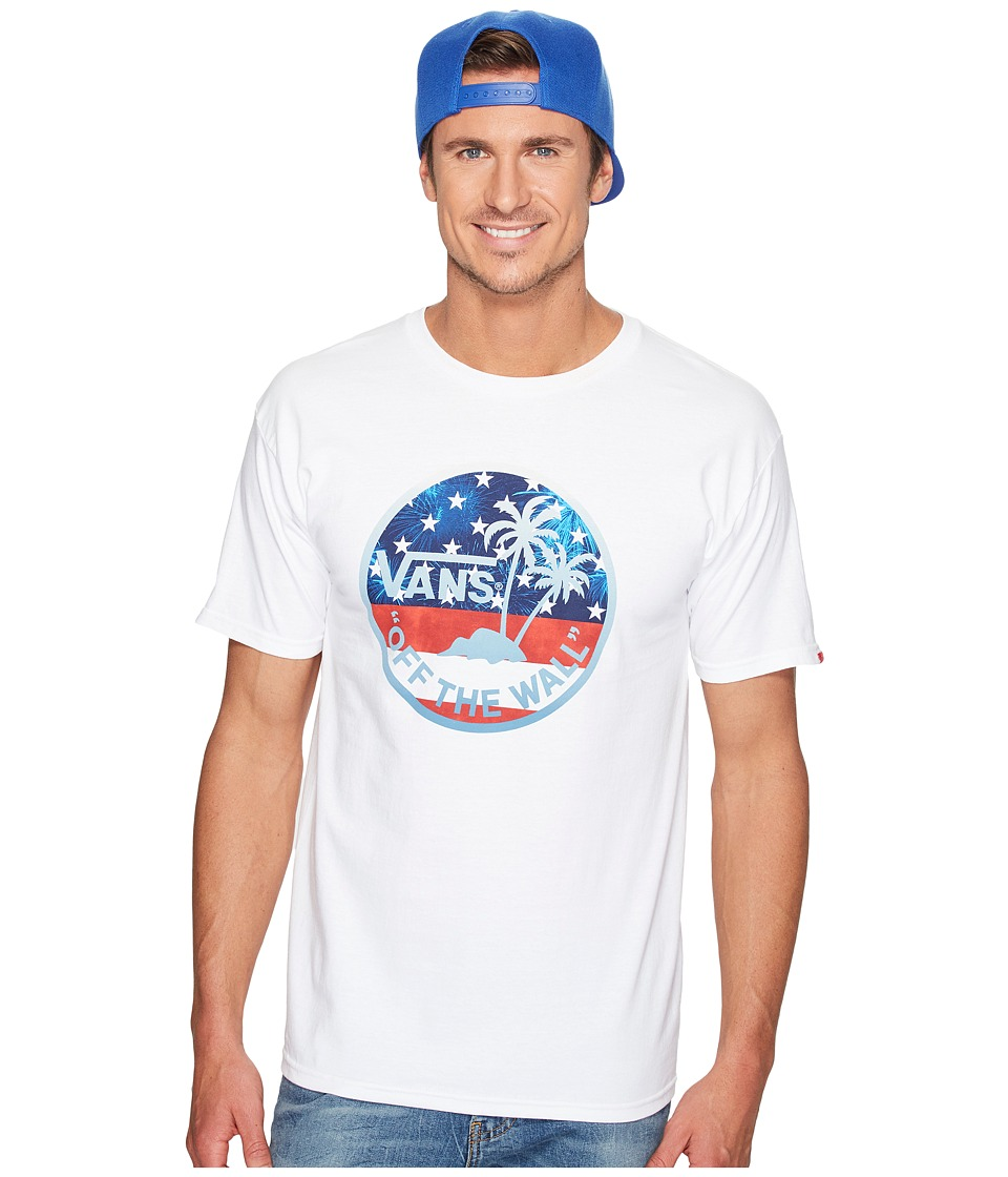 Vans Dual Palm Fill Tee (White/American Flag) Men