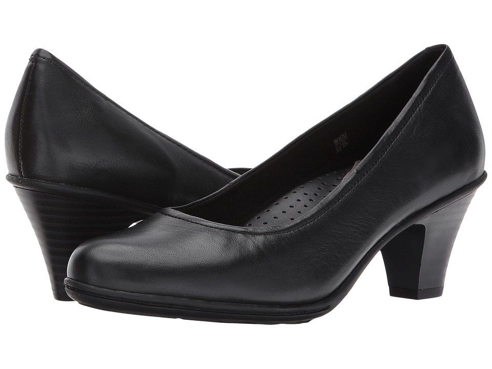 Earth Bijou (Black Full Grain Leather) High Heels