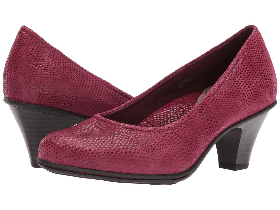 Earth Bijou (Burgundy Printed Suede) High Heels