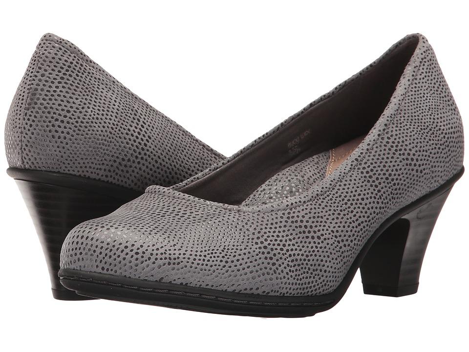 Earth Bijou (Grey Printed Suede) High Heels