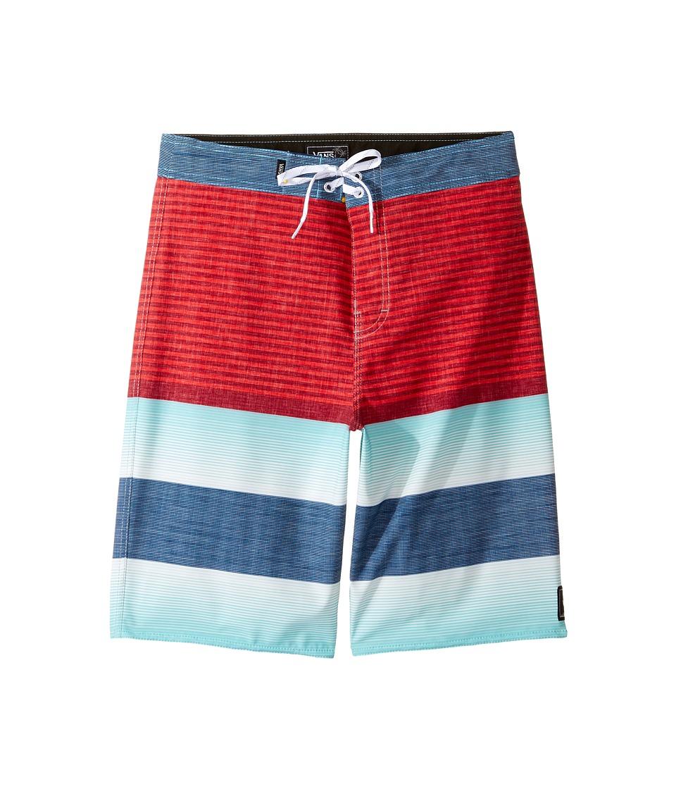 Vans Kids Era Stretch Boardshorts (Little Kids/Big Kids) (Racing Red Vertex Stripe) Boy