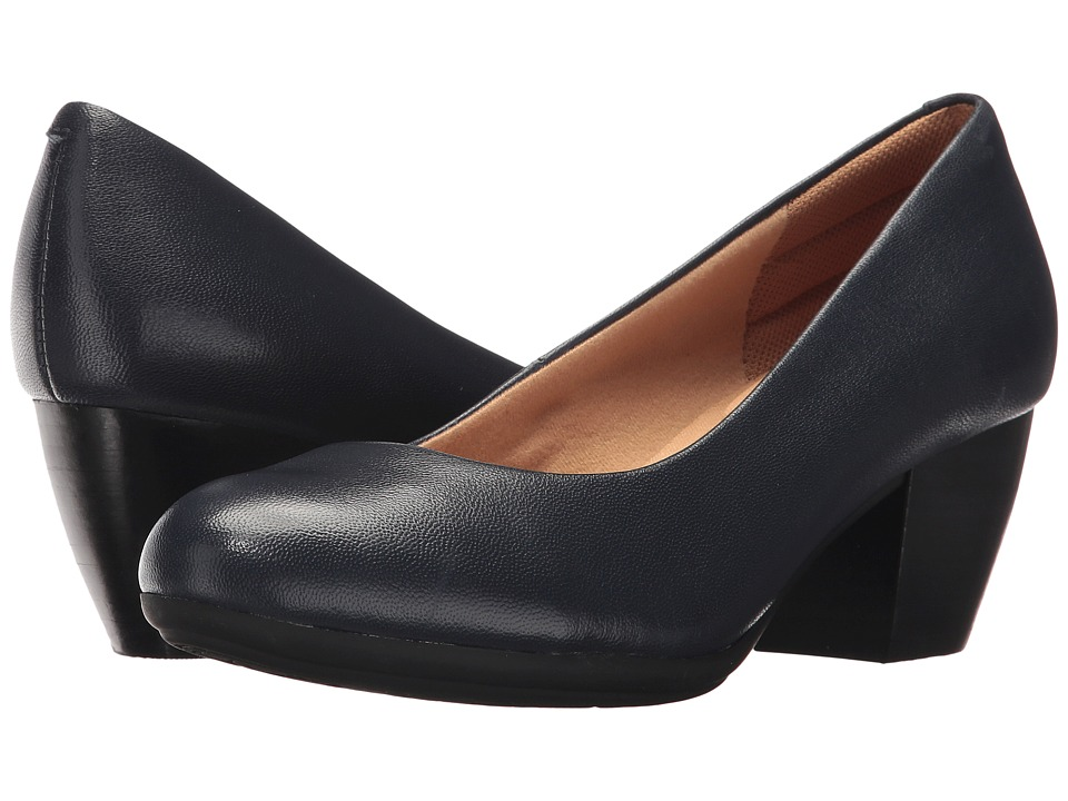 Comfortiva Amora (Peacoat Navy River Kid Skin) High Heels