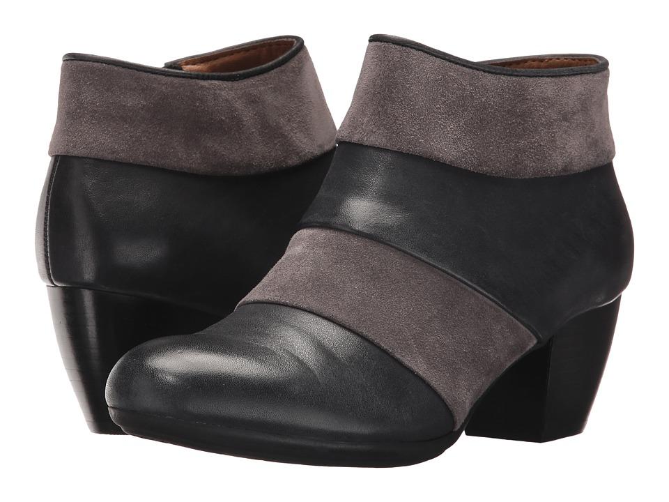 Comfortiva Amesbury (Black/Steel Grey Cow Wales/Cow Suede) High Heels