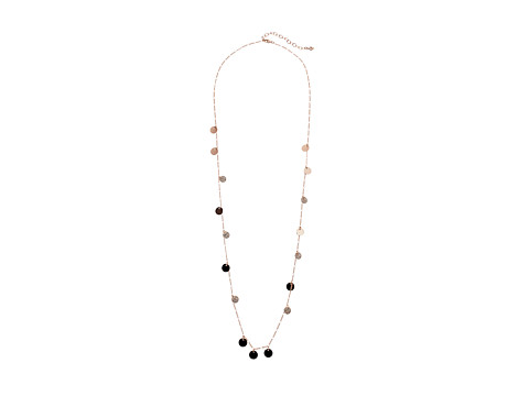 Vera Bradley Long Delicate Coin Necklace - Rose Gold Tone