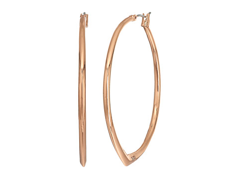 Vera Bradley Large Triangle Hoop Earrings - Rose Gold Tone