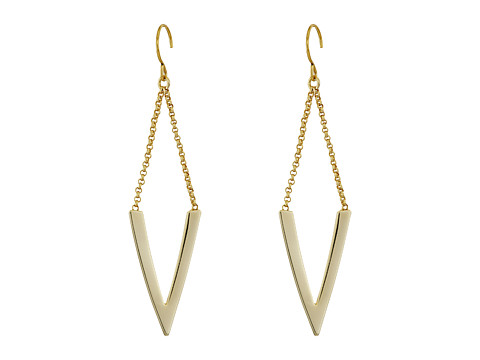 Vera Bradley Triangle Large Drop Earrings - Gold Tone