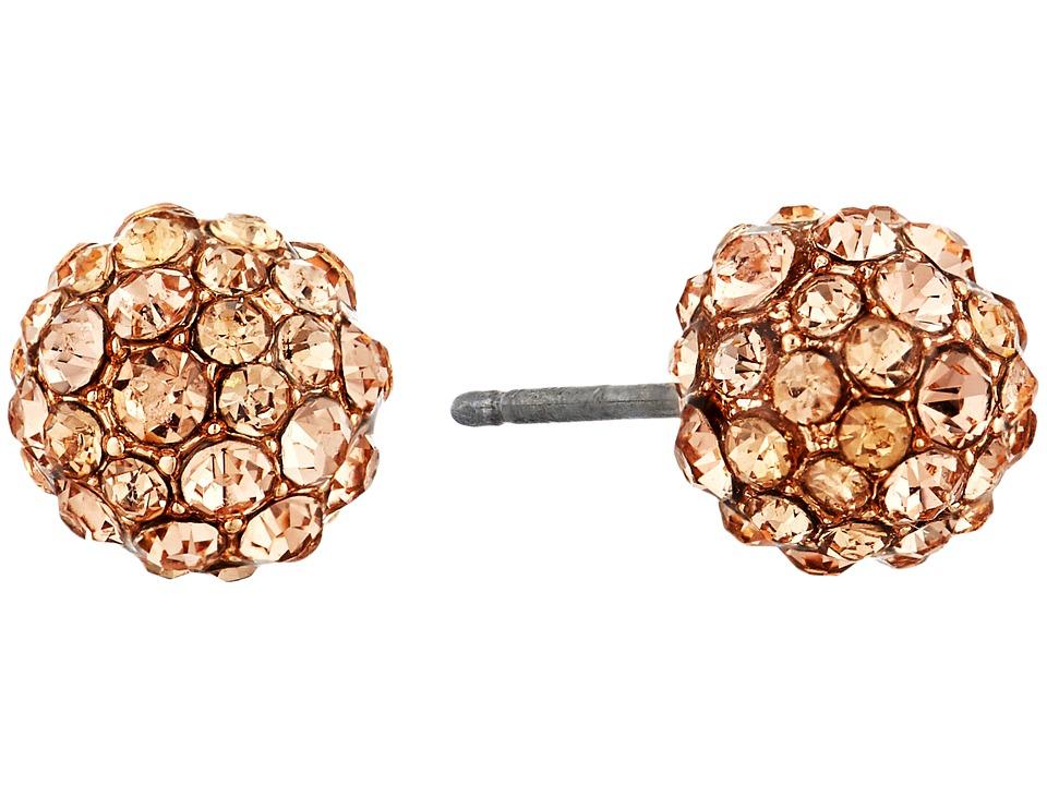 Vera Bradley - Radiant Fireball Stud Earrings (Rose Gold Tone) Earring