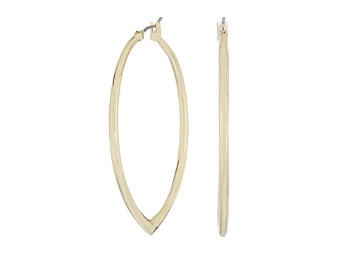Vera Bradley Large Triangle Hoop Earrings - Gold Tone
