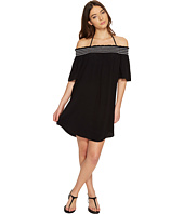 Seafolly - Spice Temple Smocked Off Shoulder Dress Cover-Up