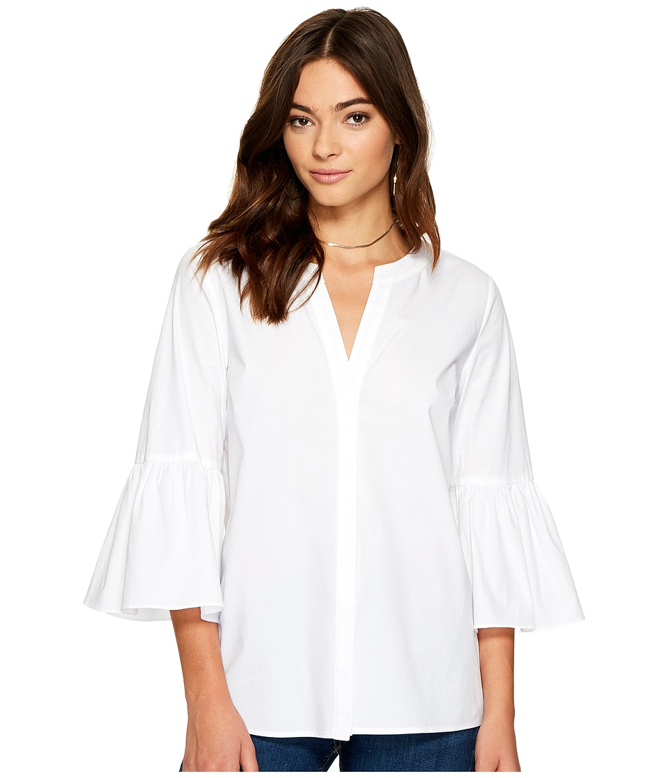 1.STATE - Bell Sleeve Button Down Blouse (Ultra White) Women's Blouse -  adult