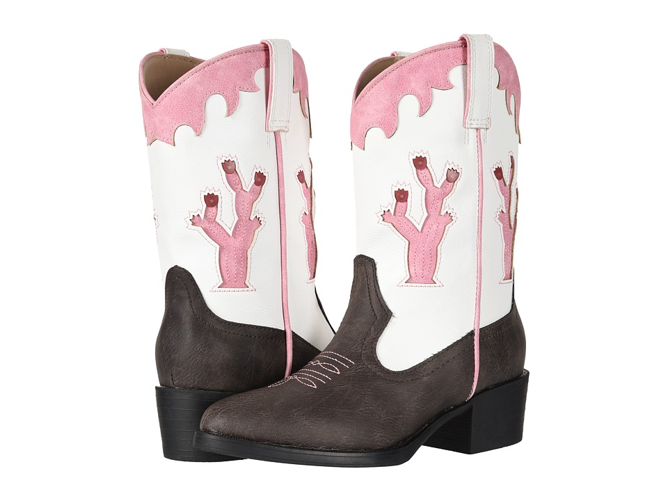 Roper Kids Desert Lights (Toddler/Little Kid) (Faux Leather Vamp/Cactus Lights) Cowboy Boots