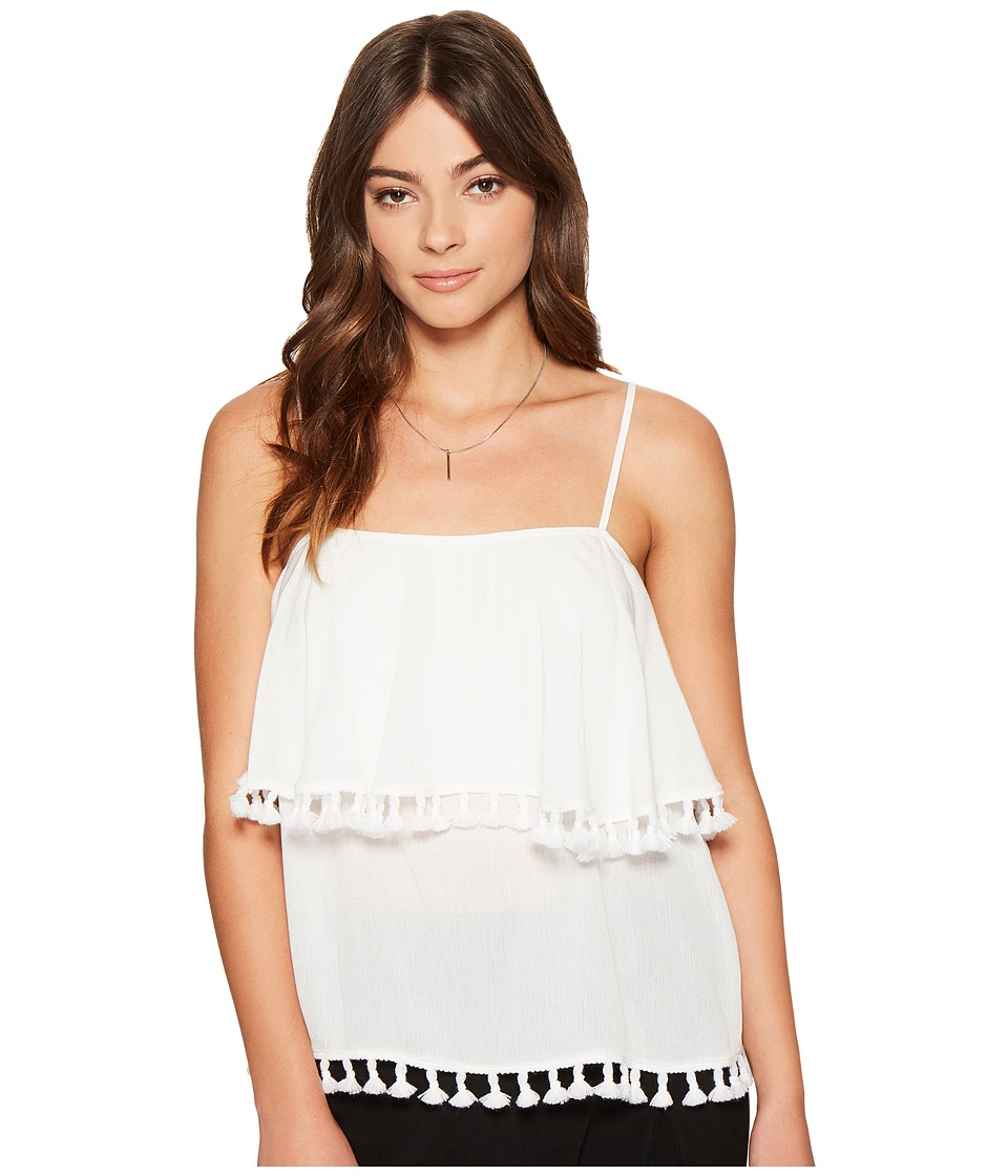 1.STATE - Spaghetti Strap Pop Over Top w/ Tassels